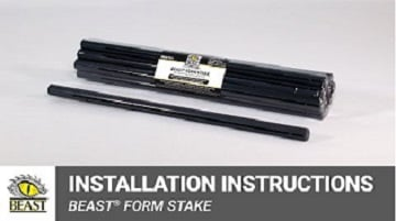 Beast Form Stake Installation Instructions Video Clip