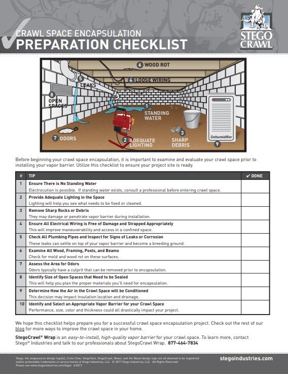 Crawl-Space-Encapsulation-Preparation-Checklist