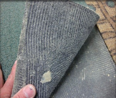 Flooring Failure - Rubber-Backed Carpet