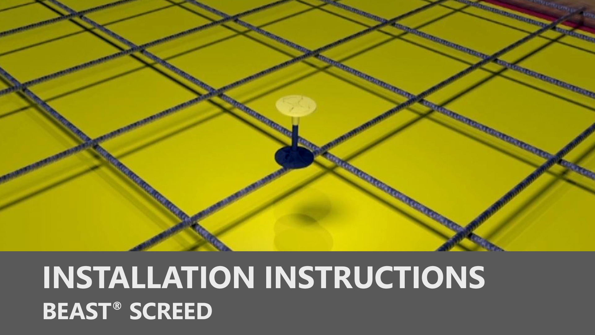 Beast Screed Installation Instructions