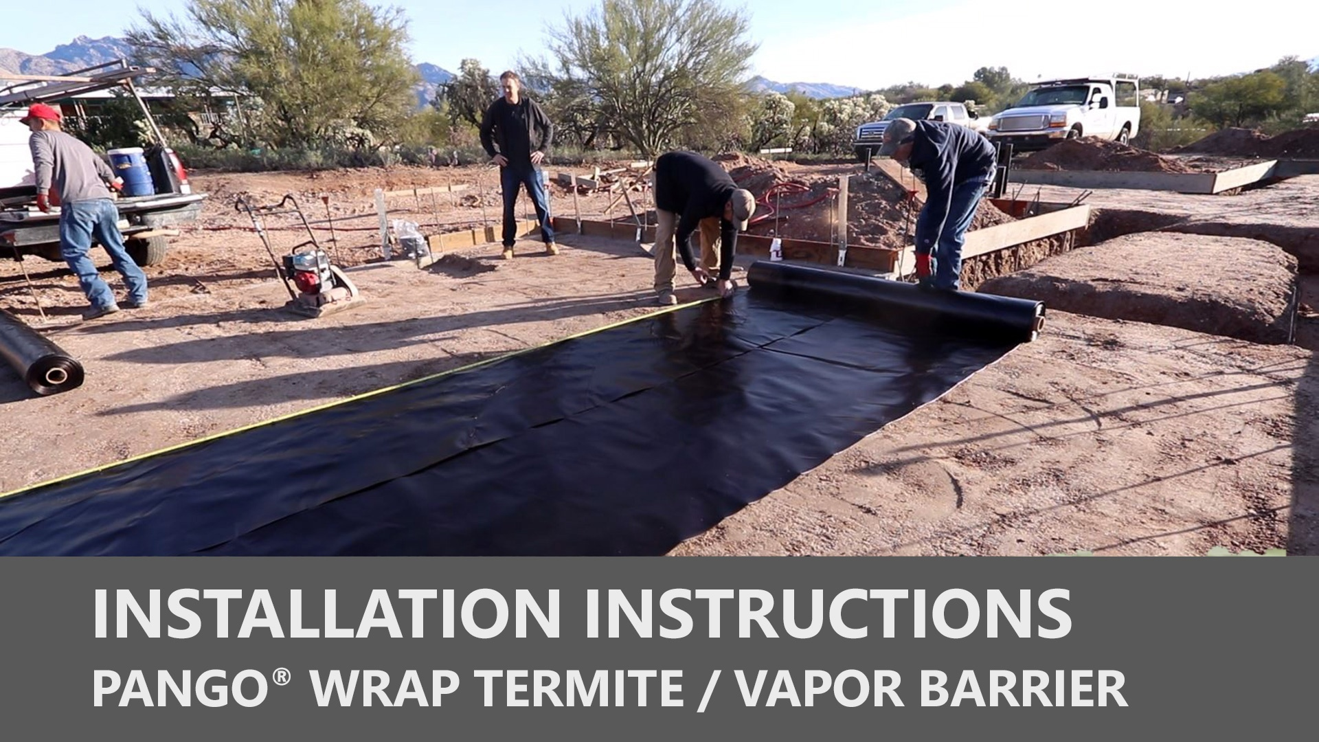 Pango Wrap Termite / Vapor Barrier Installation Instructions