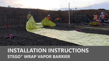 Stego Wrap Vapor Barrier Installation Instructions