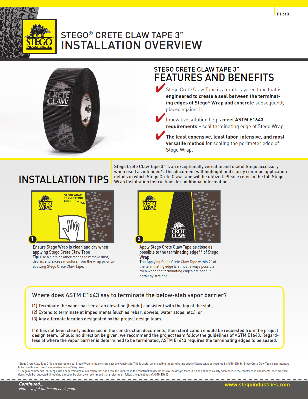 Stego-Crete-Claw-Tape-3-Inch-Installation-Overview
