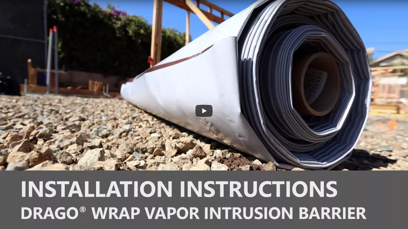 Drago Wrap Vapor Intrusion Barrier Installation Instructions Video