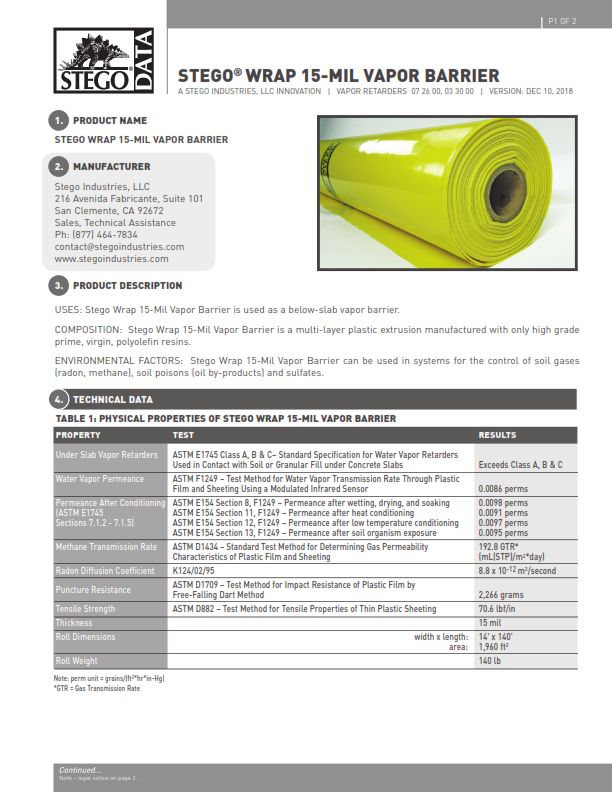 Stego-Wrap-Vapor-Barrier-Data-Sheet-First-Page