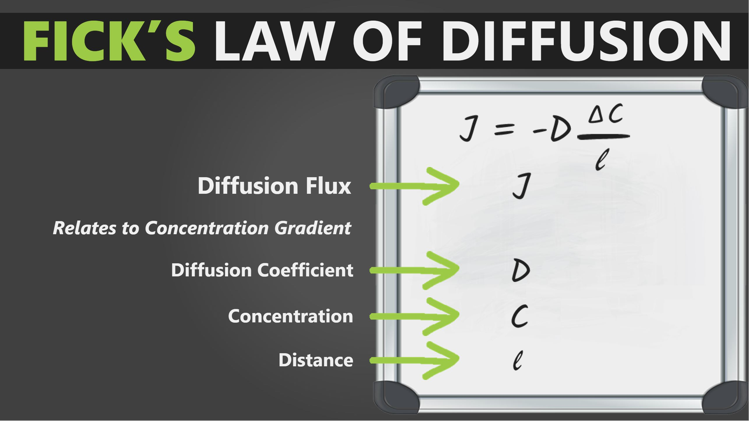 Ficks Law of Diffusion