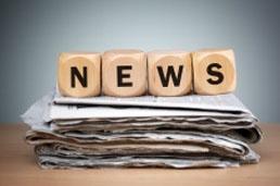 NEWS blocks on newspaper
